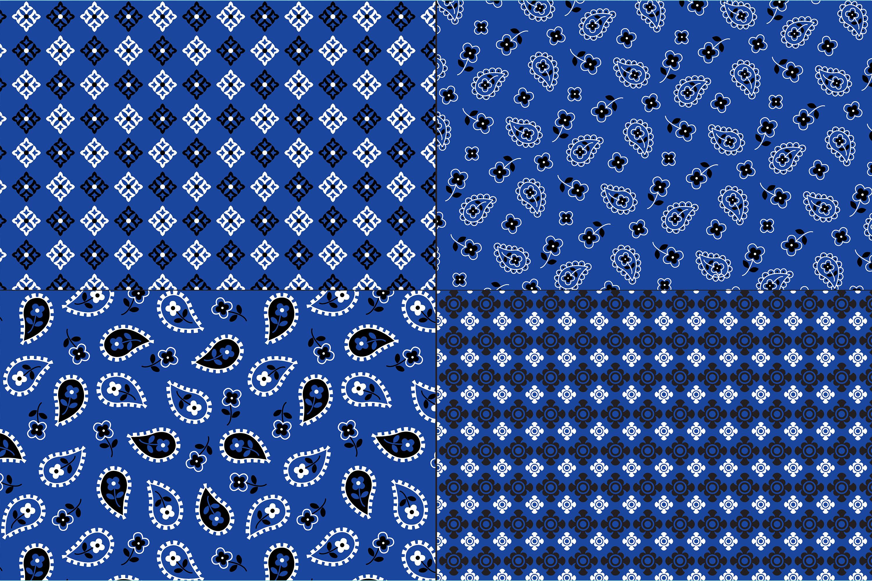 Blue Bandana Patterns example image 4