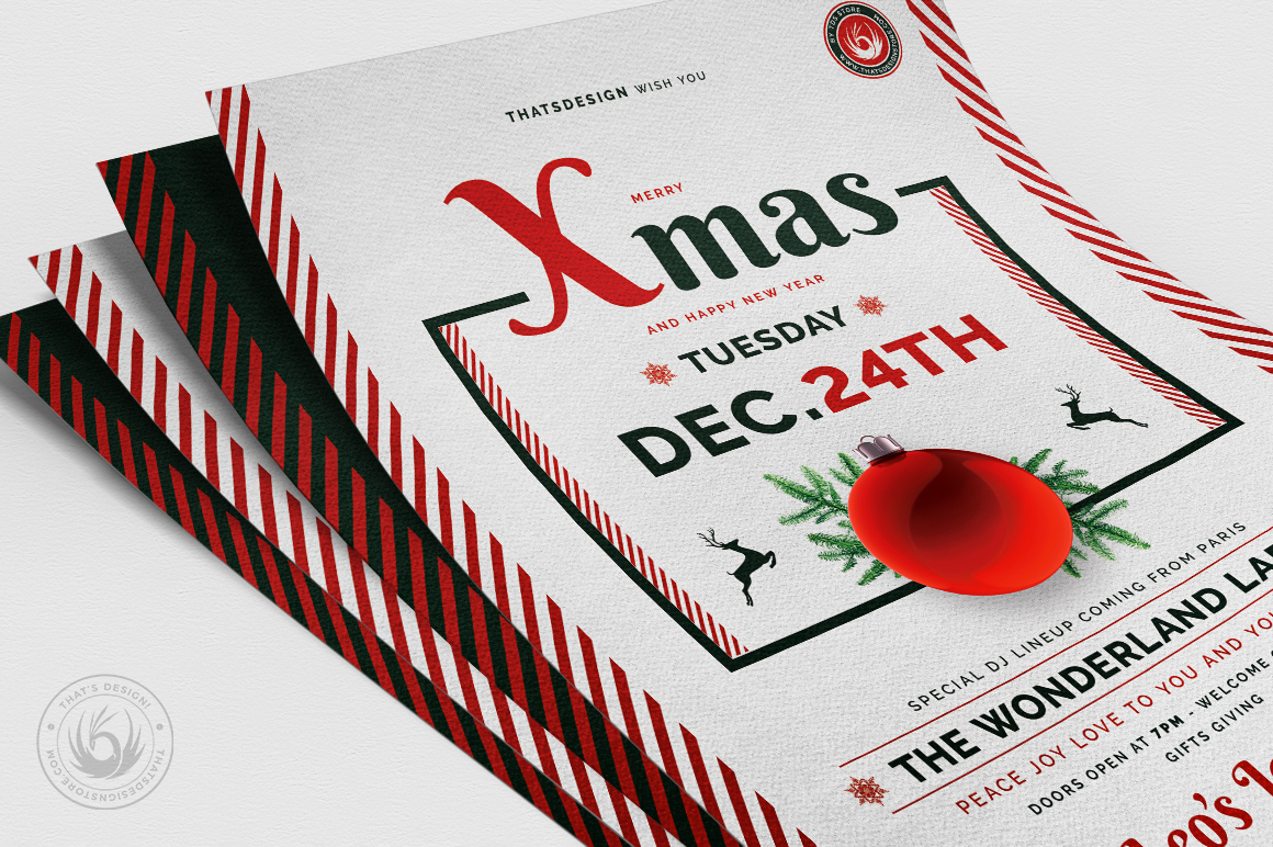 Christmas Eve Flyer Template V12 example image 5