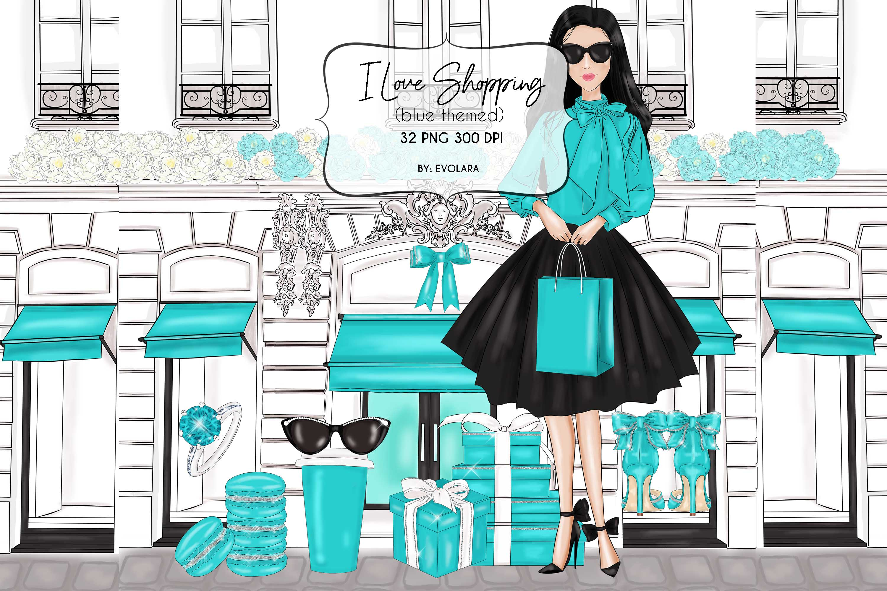 Blue Mint Clipart Fashion Illustrations Breakfast At Clipart example image 1