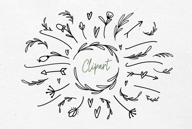 River Jade, signature font script, Logos & bonus clipart example image 8