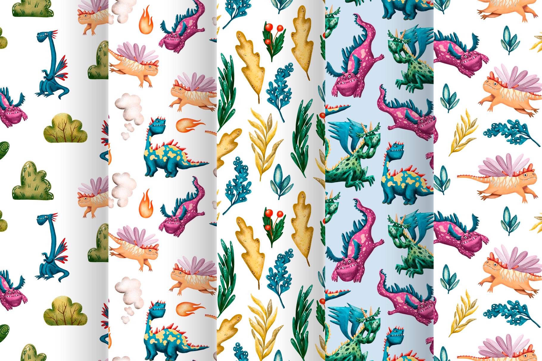 Cute Dragons - Clip Art Set example image 5