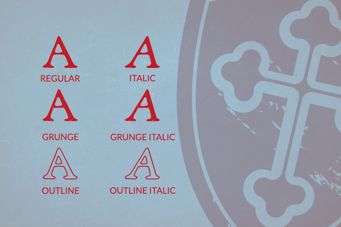 Grand Baron - A Vintage Typeface & Bonus example image 2