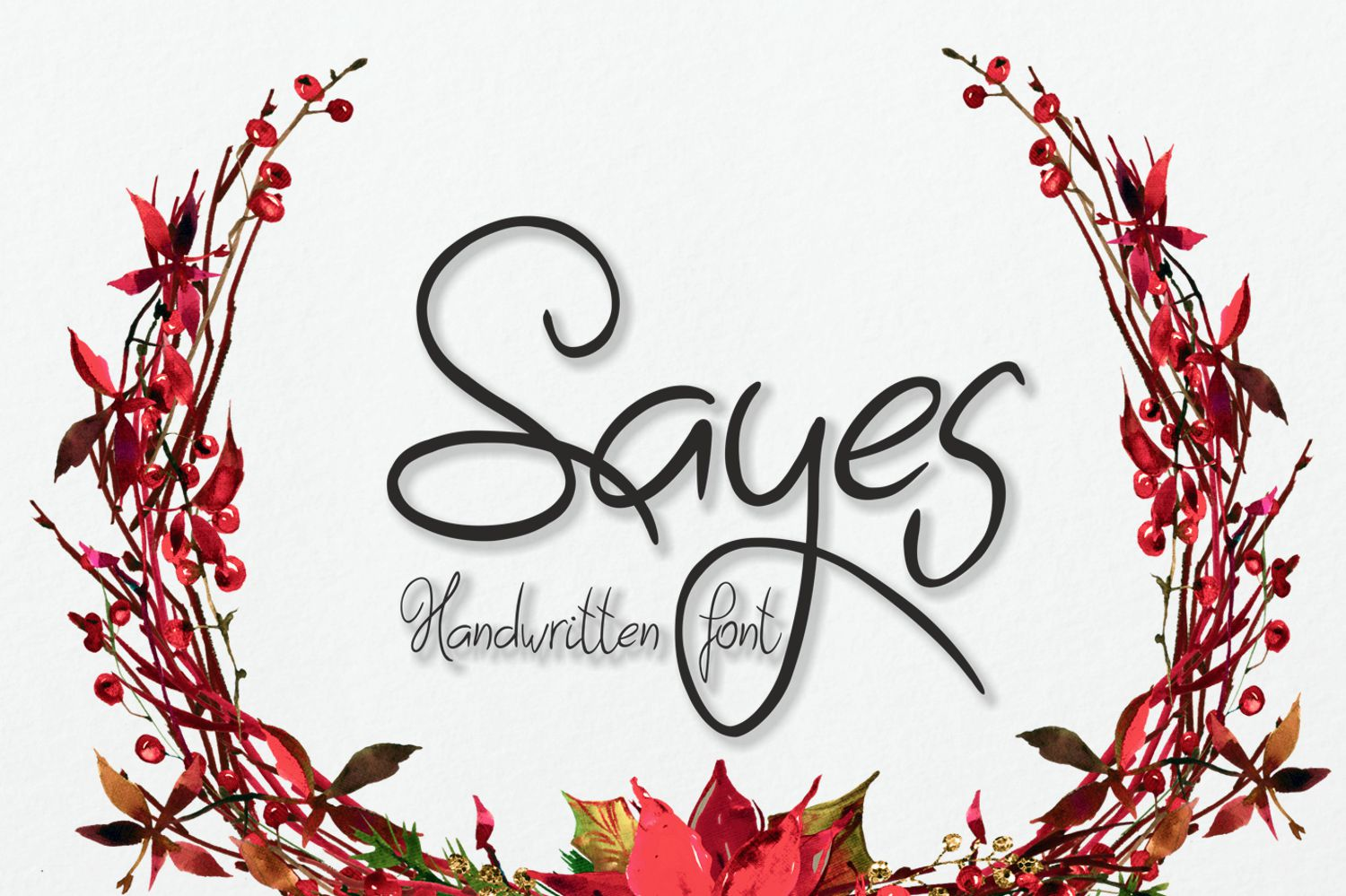 Sayes Font example image 1
