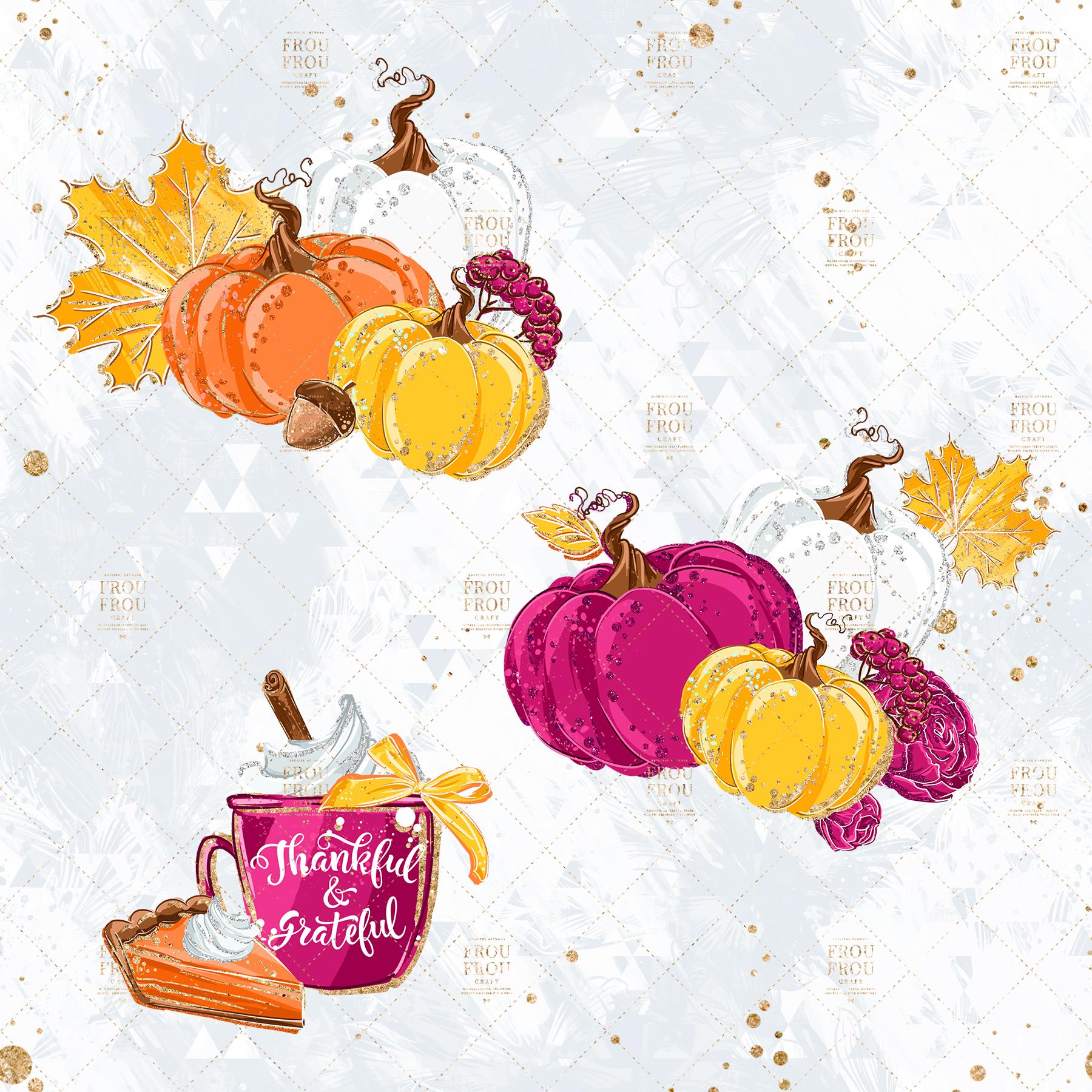 Sweets Cake Pumpkin Pie Fall Autumn Clip Art example image 3