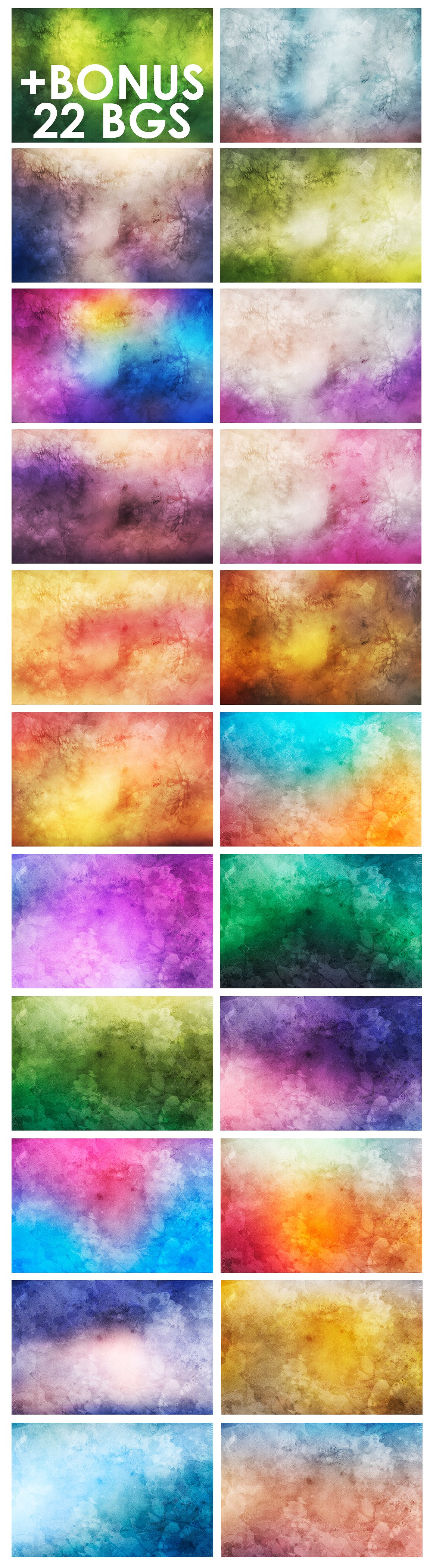 Only Watercolor Backgrounds Bundle example image 5