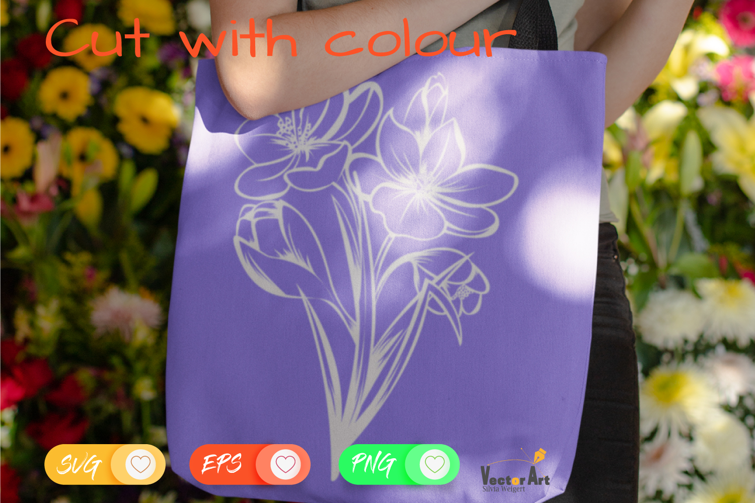 Crocus Flower - Cut File with 2 Layers example image 3