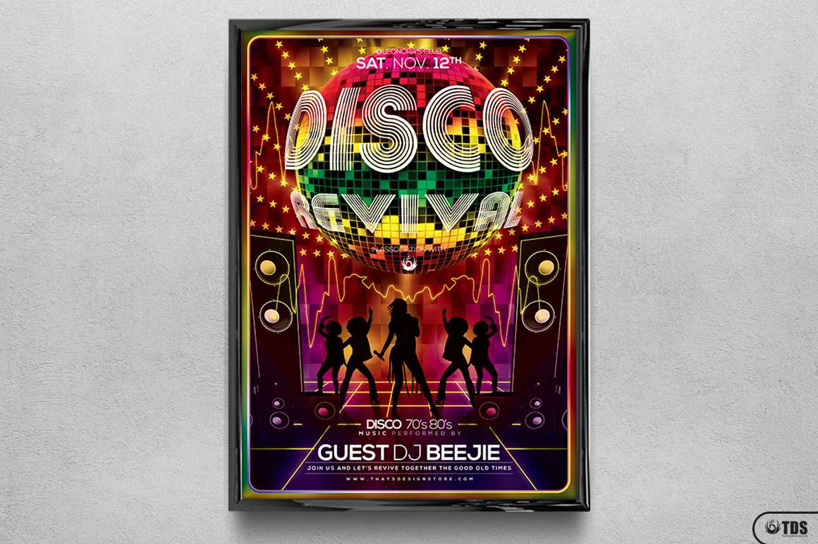 Disco Revival Flyer Template V1 example image 6
