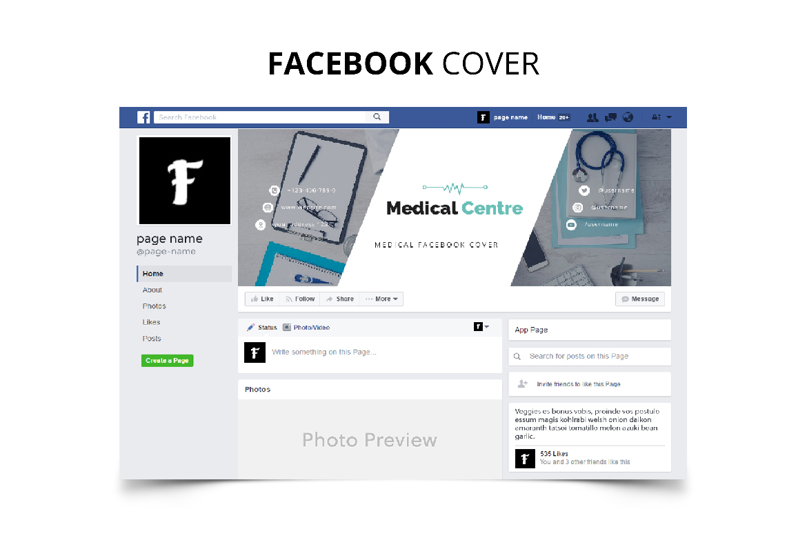 Medical Centre Social Media Kit example image 5