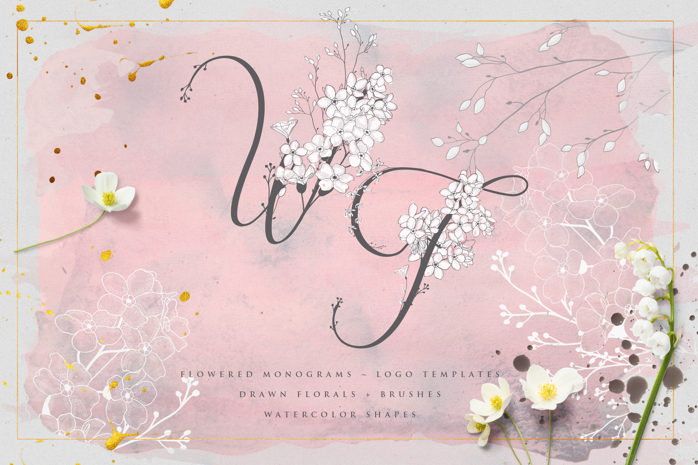 Flowered Monograms & Logo Collection example image 1