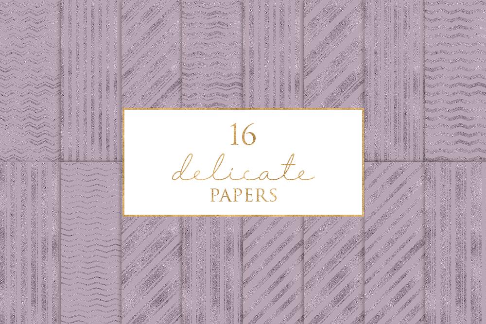 16 Delicate Digital Paper Pack example image 1