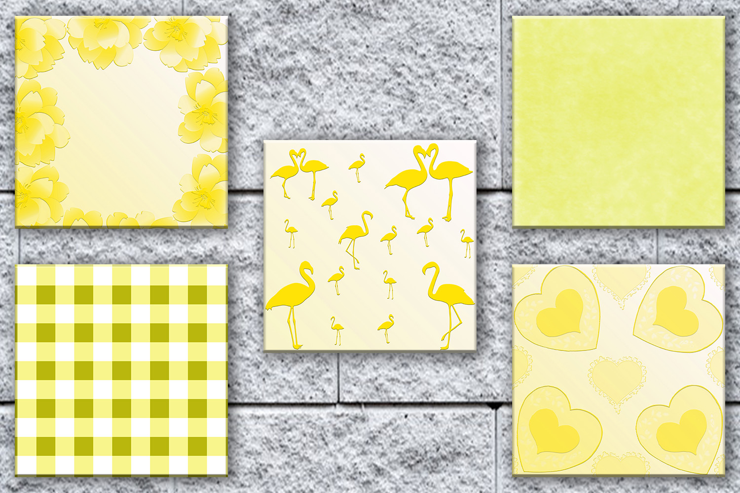 Yellow Paper Yellow Digital Paper Yel Design Bundles