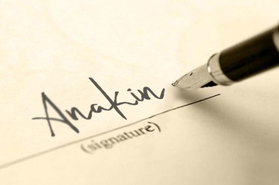 Rishtee Signature Font example image 5
