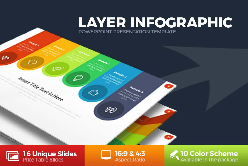 Layer Infographic Powerpoint example image 1