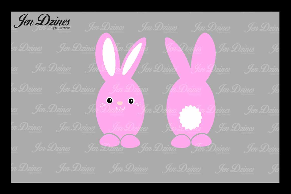 Easter Bunny Bundle SVG DXF EPS PNG example image 3