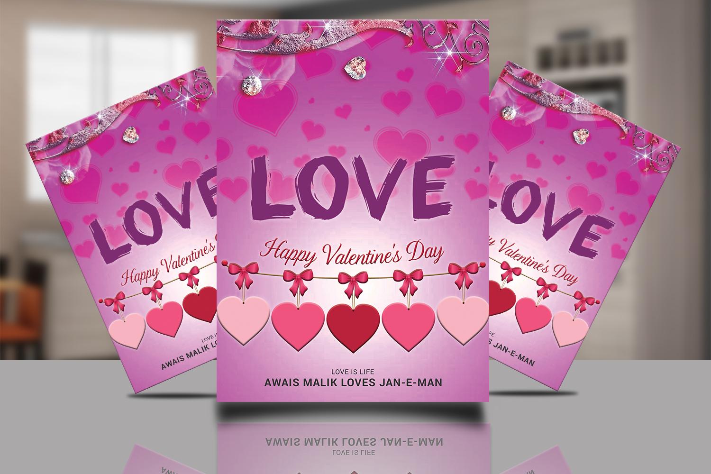 Valentine Flyer PSD example image 1