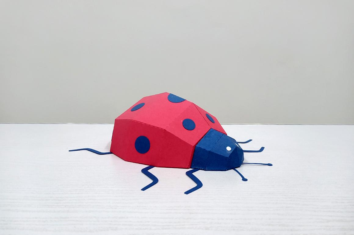DIY Papercraft Ladybug,Lady bug,Lady beetle,Ladybug svg,dxf example image 5