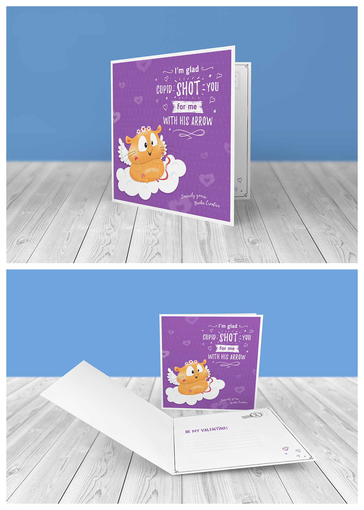 70 Valentine's Day greeting cards - Hamster Edition example image 11