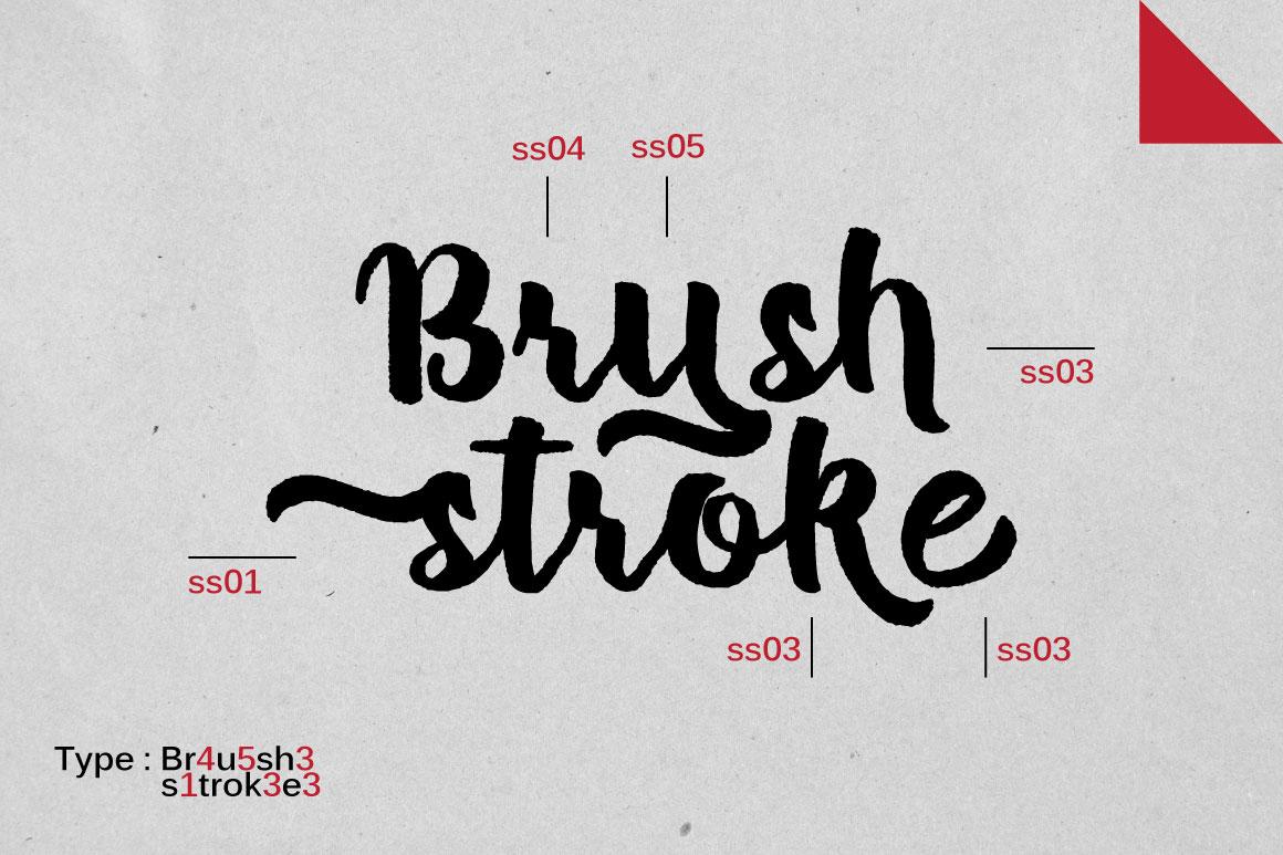 Brush Stroke  Bonus Font example image 2