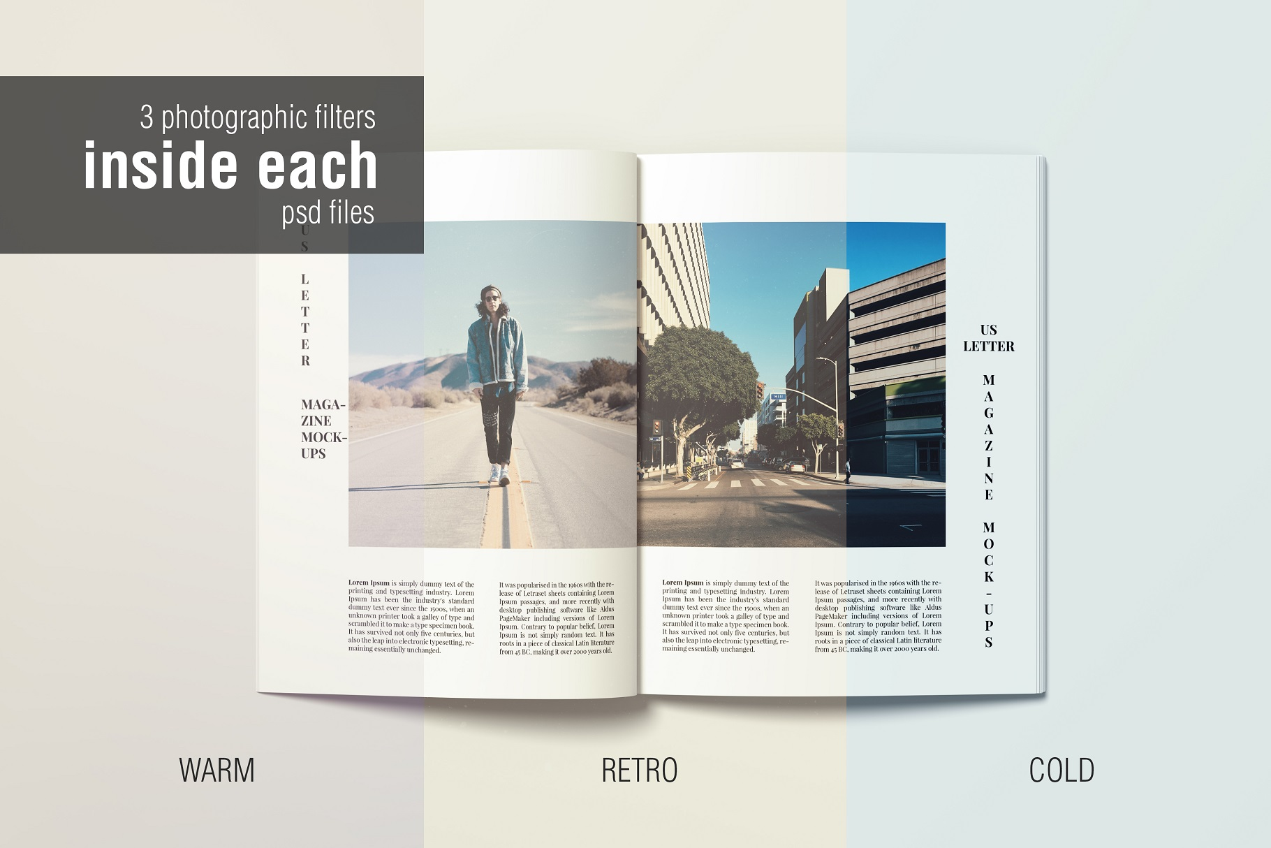 A4 and US Letter Magazines Mock-Ups example image 4