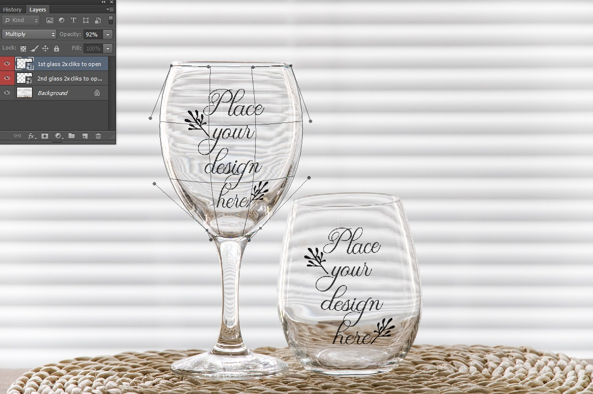 PSD stemless and wine glass mockup 2 wineglasses mockups example image 6