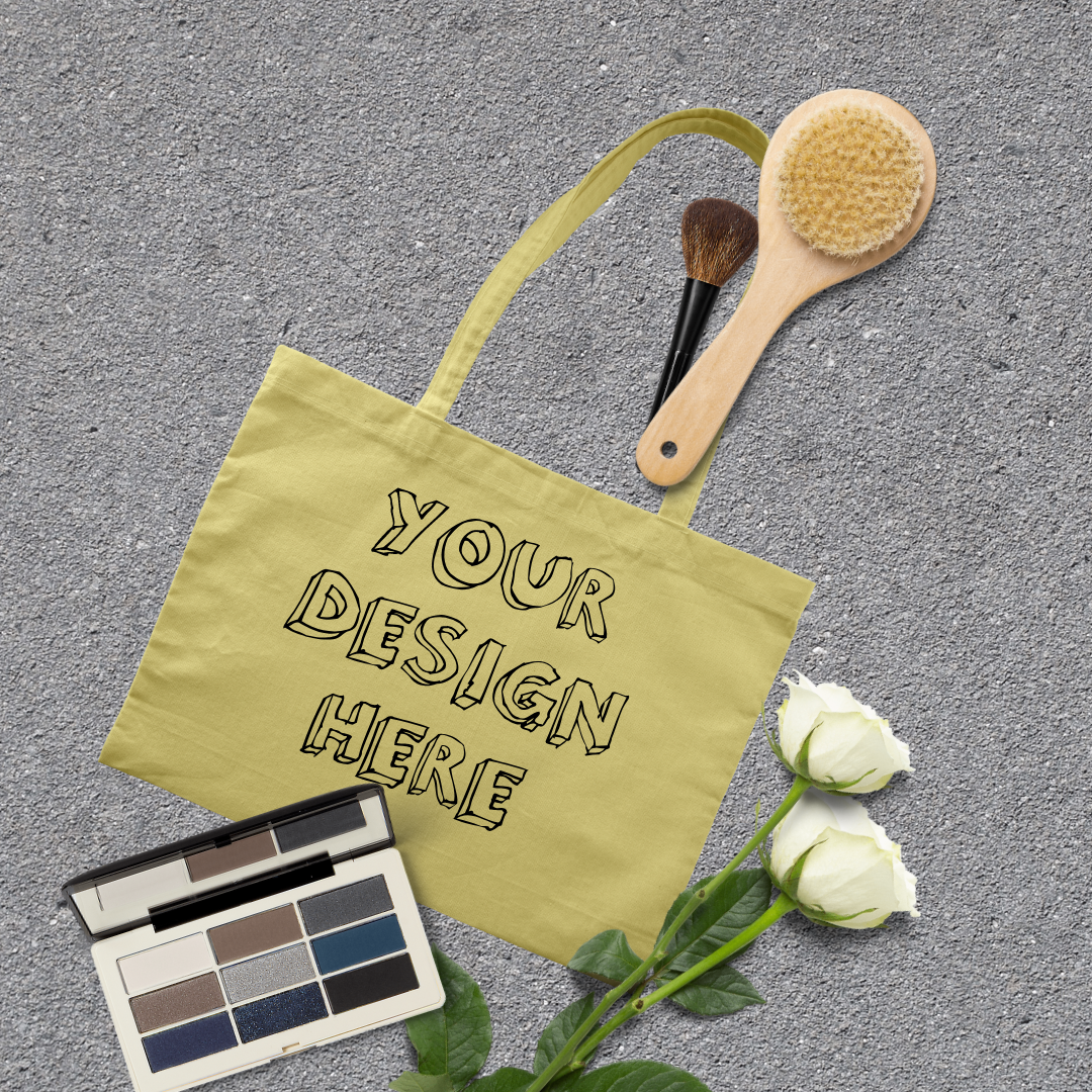 MEGA Bundle|Tote Bag Mockups with White Roses & Makeup Brush example image 9