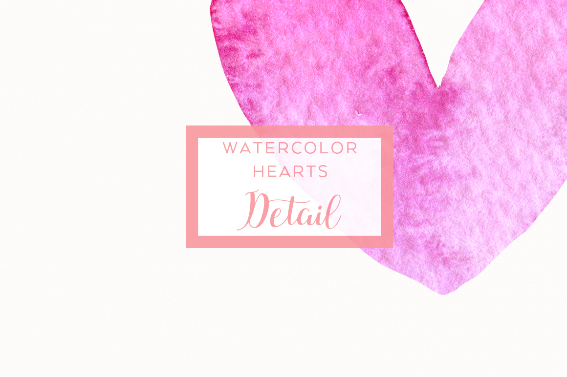 15 Watercolor Pink Hearts example image 2