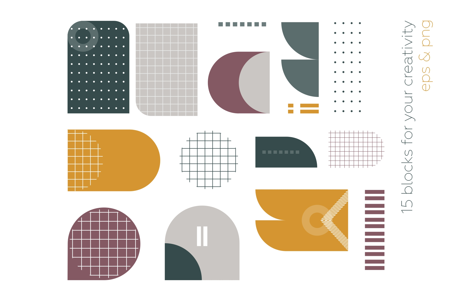 Old school geometry pattern collection example image 9
