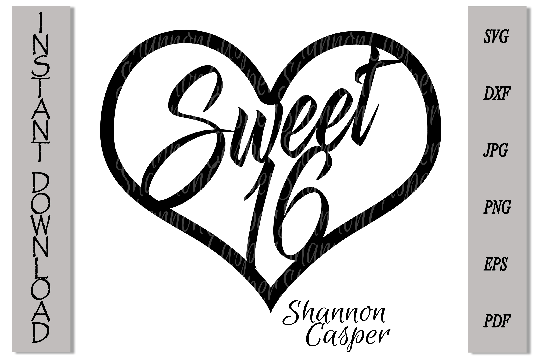 Sweet 16 Happy Birthday Cake Topper example image 3