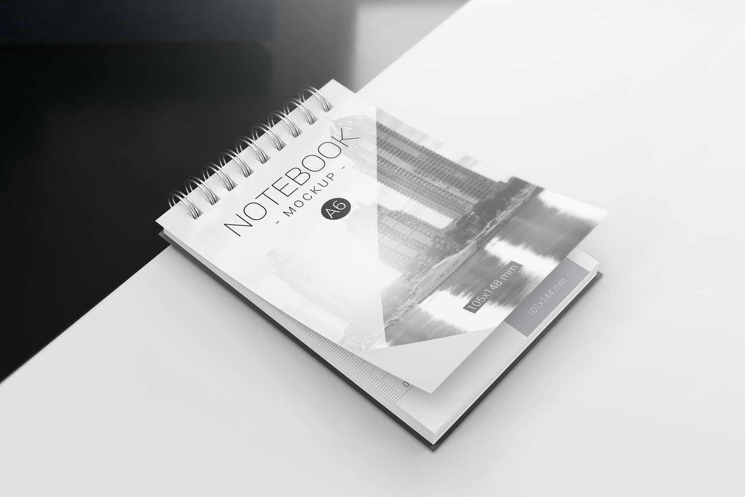 A6 Spiral Notebook Mockups example image 3