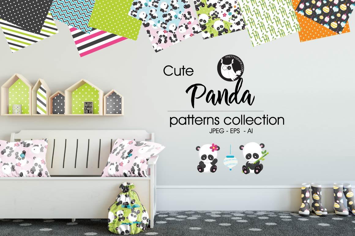 PANDA, digital papers example image 1