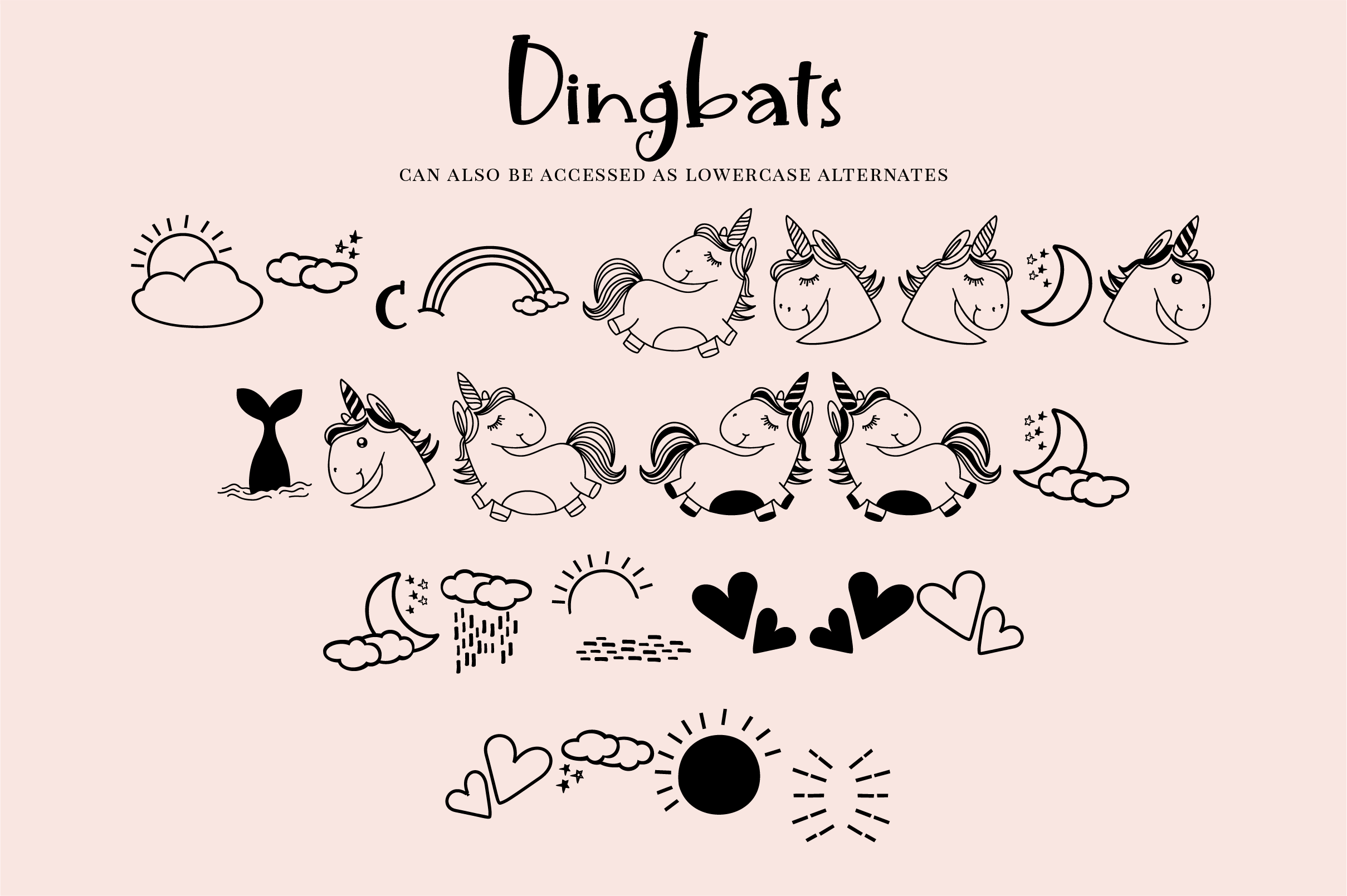 Unicorn Island Font and Dingbats example image 3