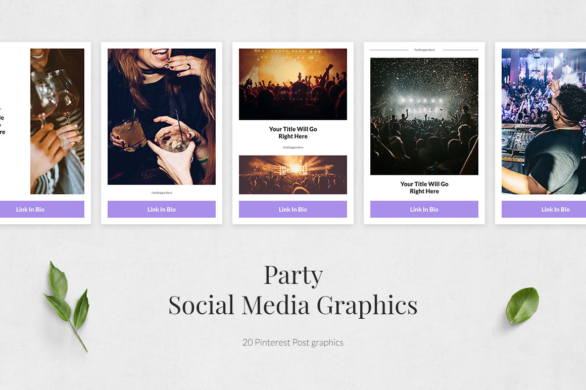 Party Pinterest Posts example image 2