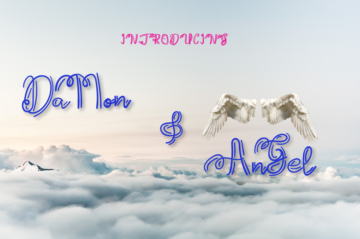 Damon And Angel font example image 1