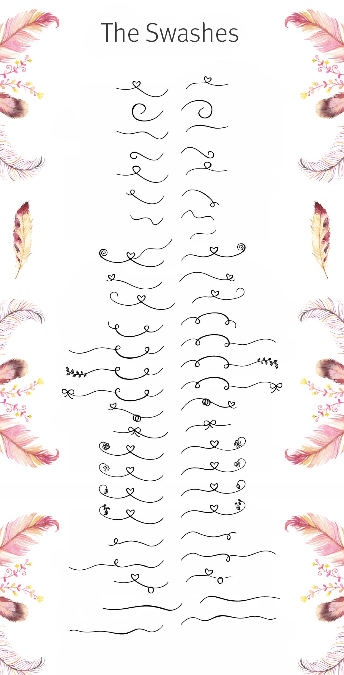 Featherly Bold Font - wedding font example image 5