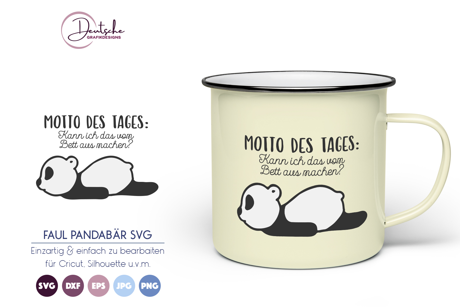 Motto des Tages | Pandabär SVG example image 1
