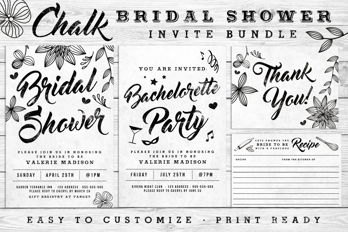 Massive Wedding Invite Bundle Flyer Save Date Bridal Shower  example image 10