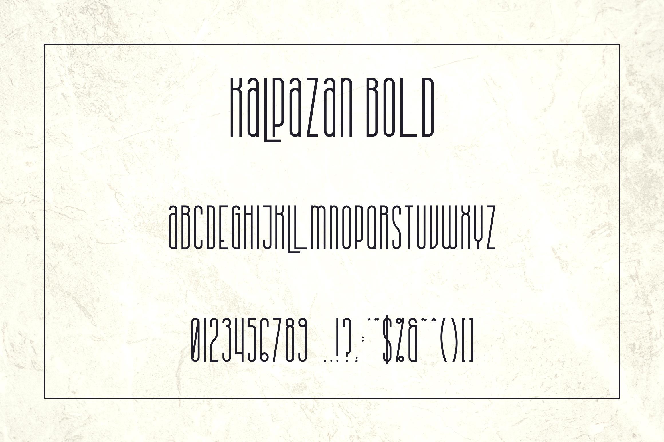 Kalpazan font family example image 11
