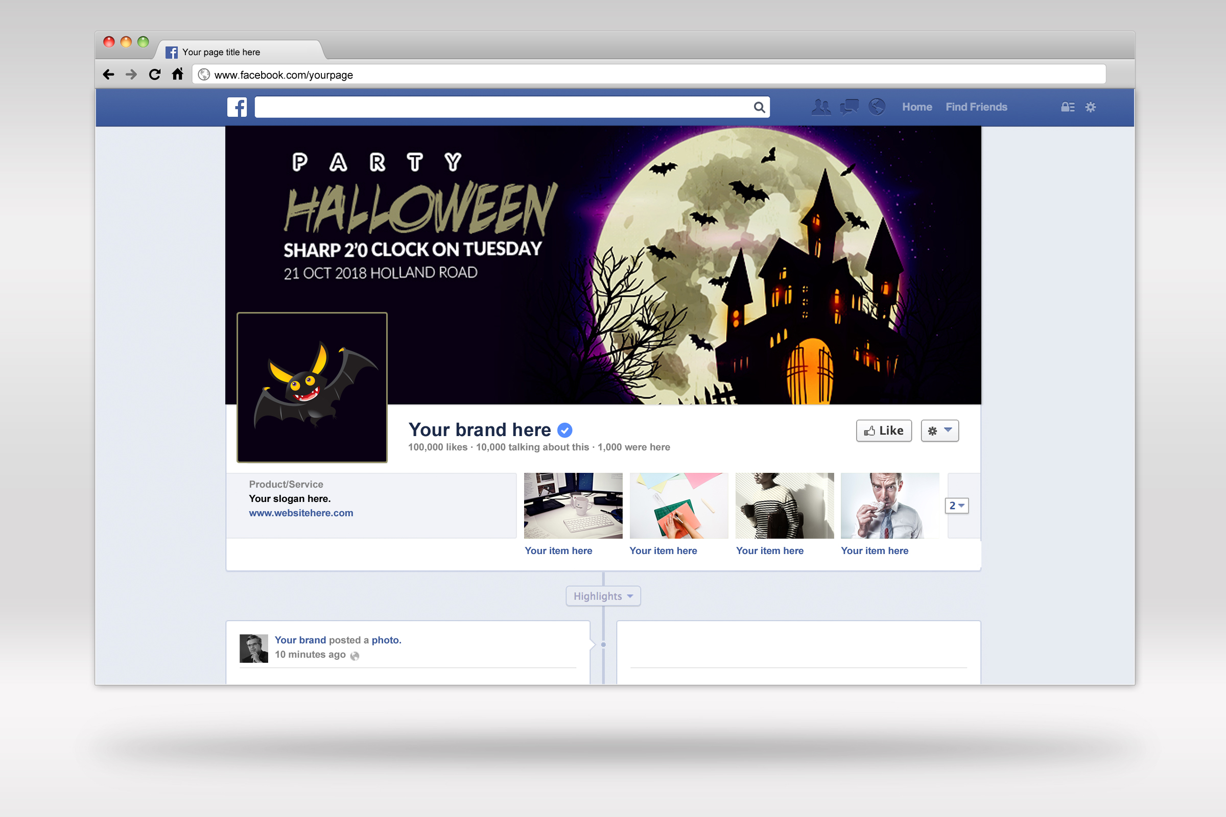 Halloween Trick or Treat Facebook Timeline example image 2