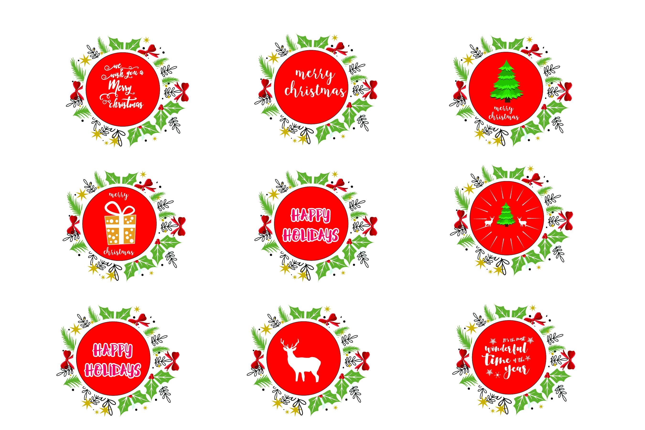 Merry Christmas-SVG Cut File-Coffee Mug Design-Greeting Card example image 1