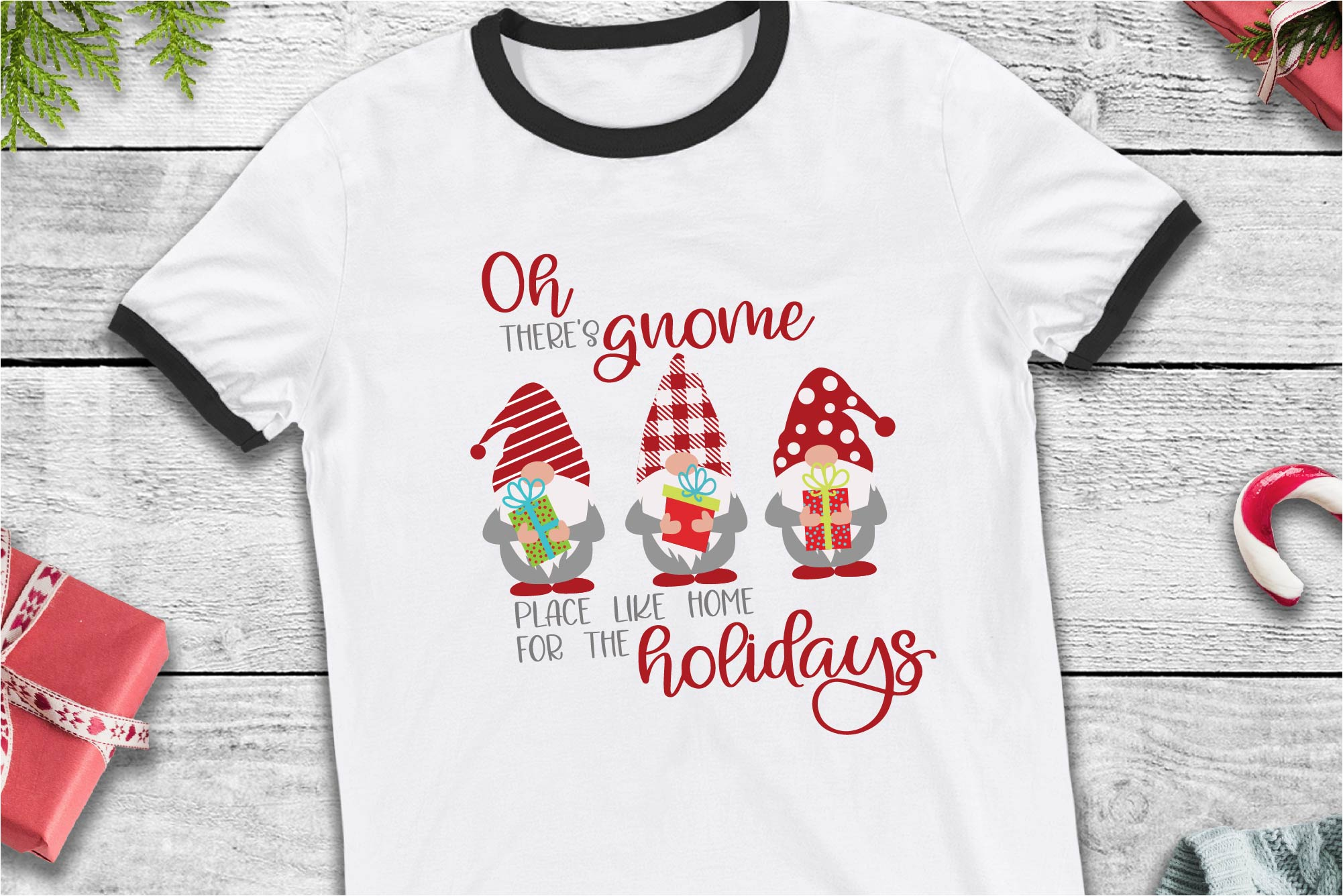 Home For The Holidays SVG, Gnome Place Like Home SVG example image 1