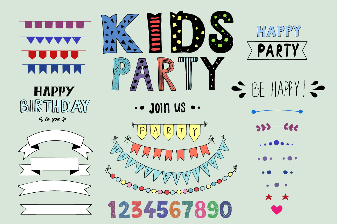 KIDS Party! Huge bundle example image 8