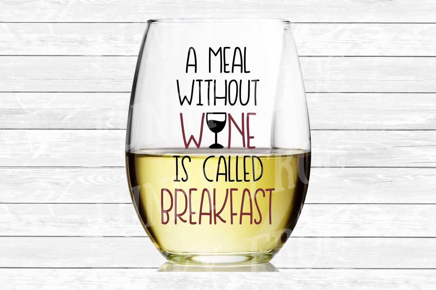 A Meal Without Wine Is Called Breakfast- SVG Cut File for example image 3