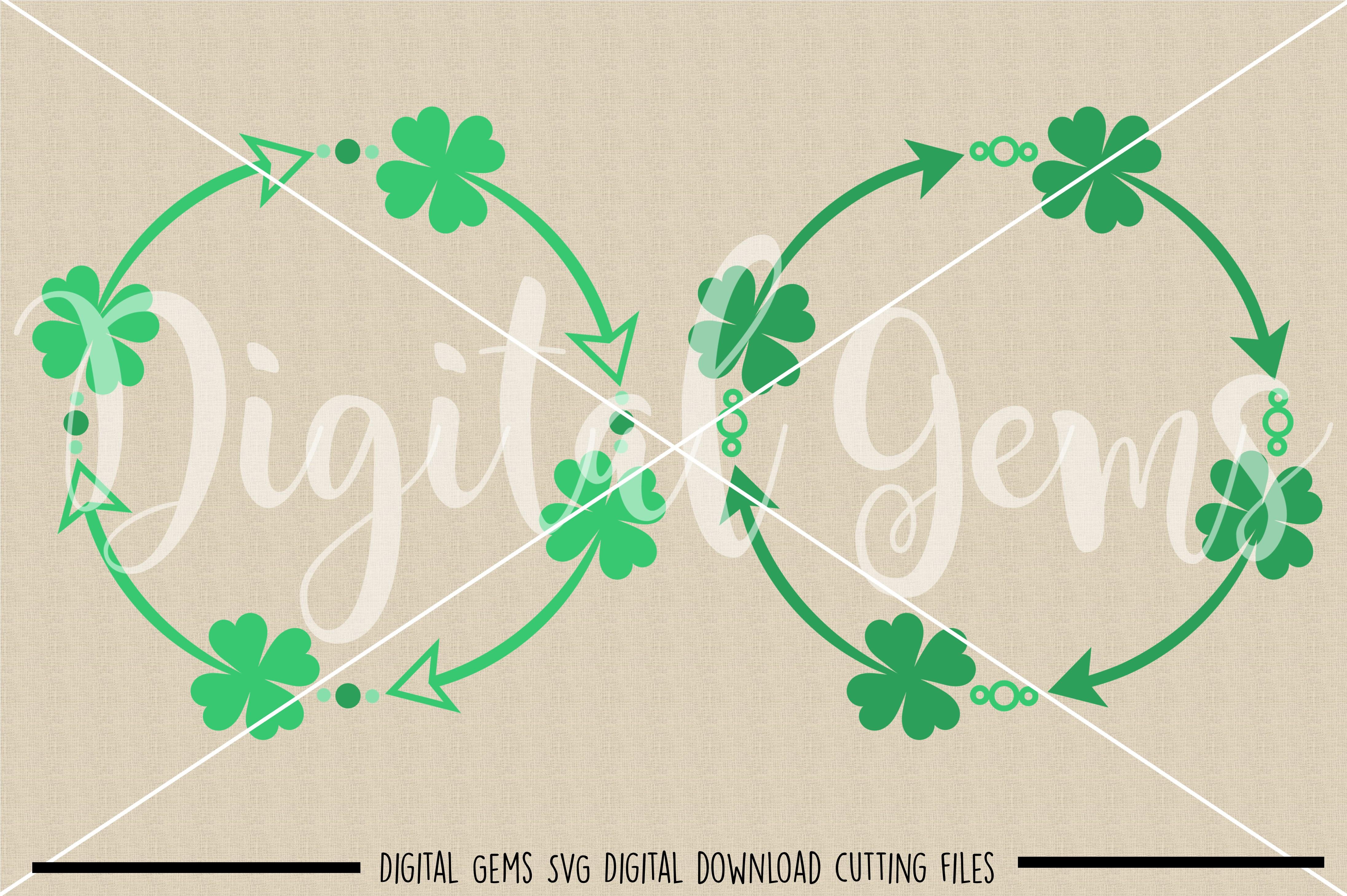 St Patrick's day Shamrock frames SVG / PNG / EPS / DXF Files example image 2