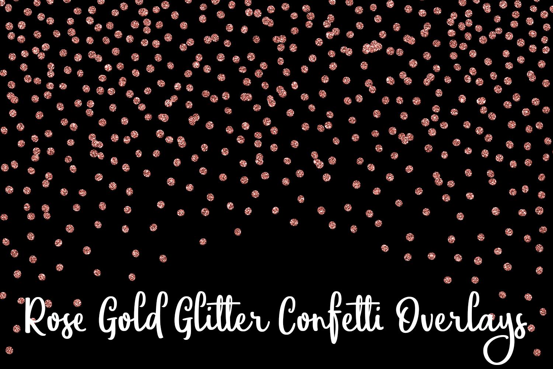 Rose Gold Glitter Confetti Overlays example image 4