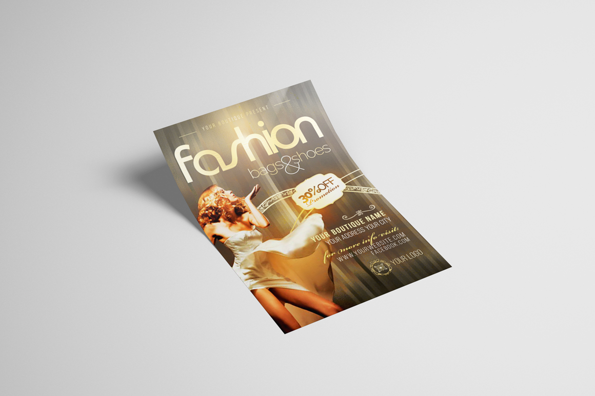 Fashion New Collection Photoshop Flyer Template example image 3