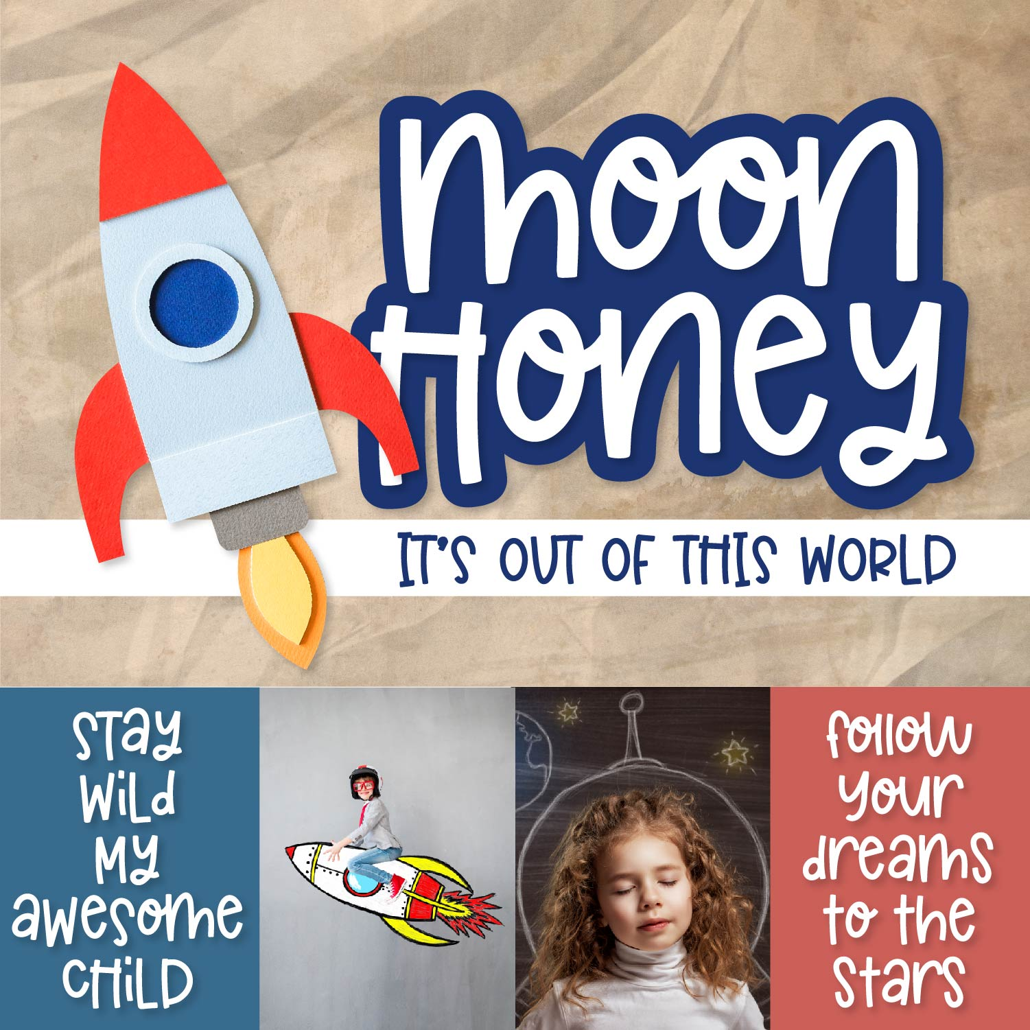 Moon Honey - An Out of this world thick Sans Serif example image 7