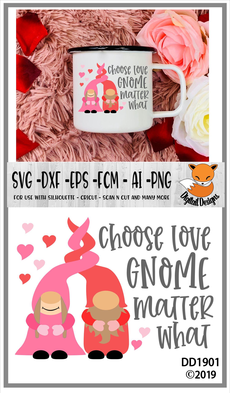 Choose Love Gnome Matter What Nordic Gnome Design example image 2