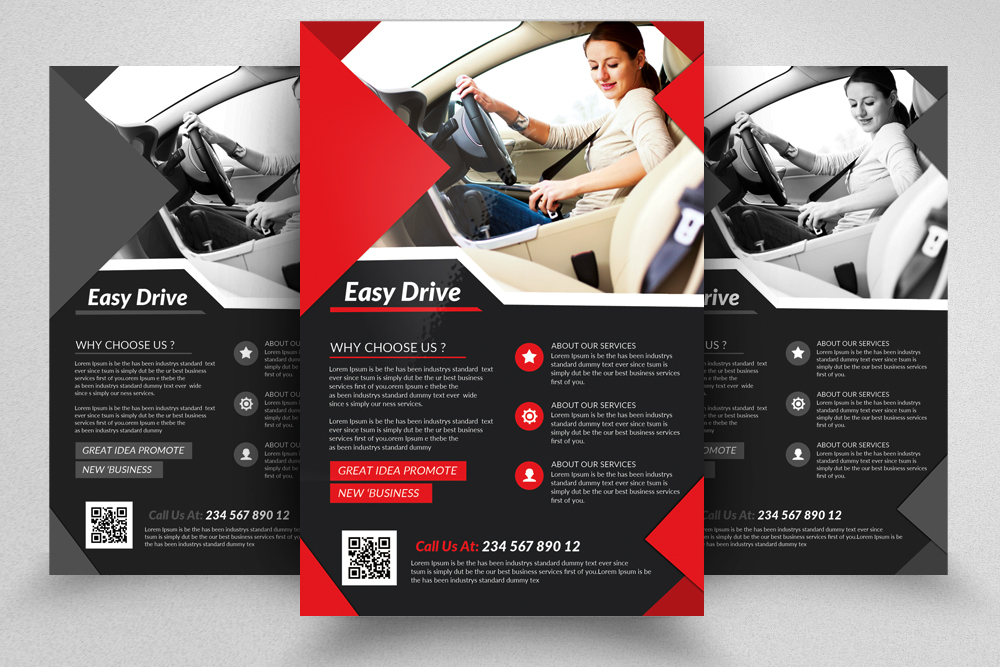 Driving School Flyers Templates example image 7