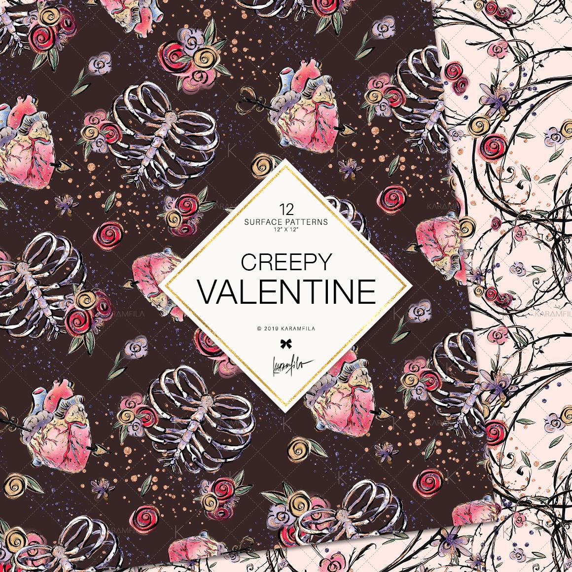 Creepy Valentine's Day Patterns example image 7