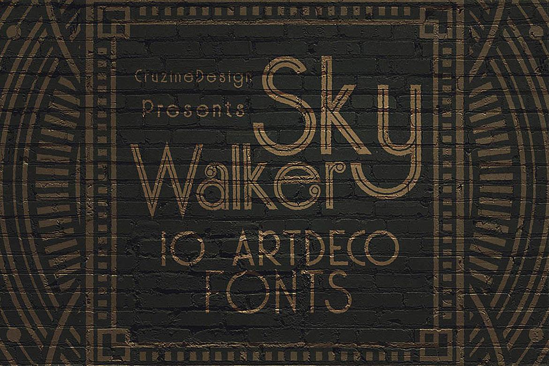 Skywalker - ArtDeco Typeface example image 5